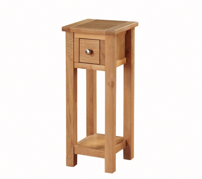 Hartford city oak telephone table for Furniture 30cm deep