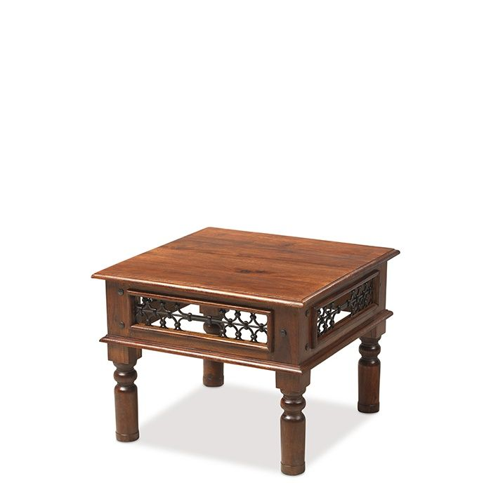 Jali sheesham wood small coffee table for Small dark wood coffee table