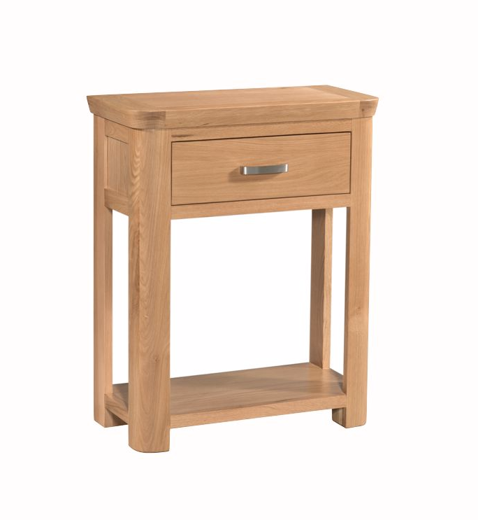 Treviso oak small console table for Furniture 30cm deep
