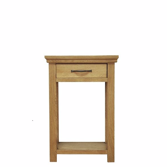 Wansbeck oak small console table for Furniture 30cm deep