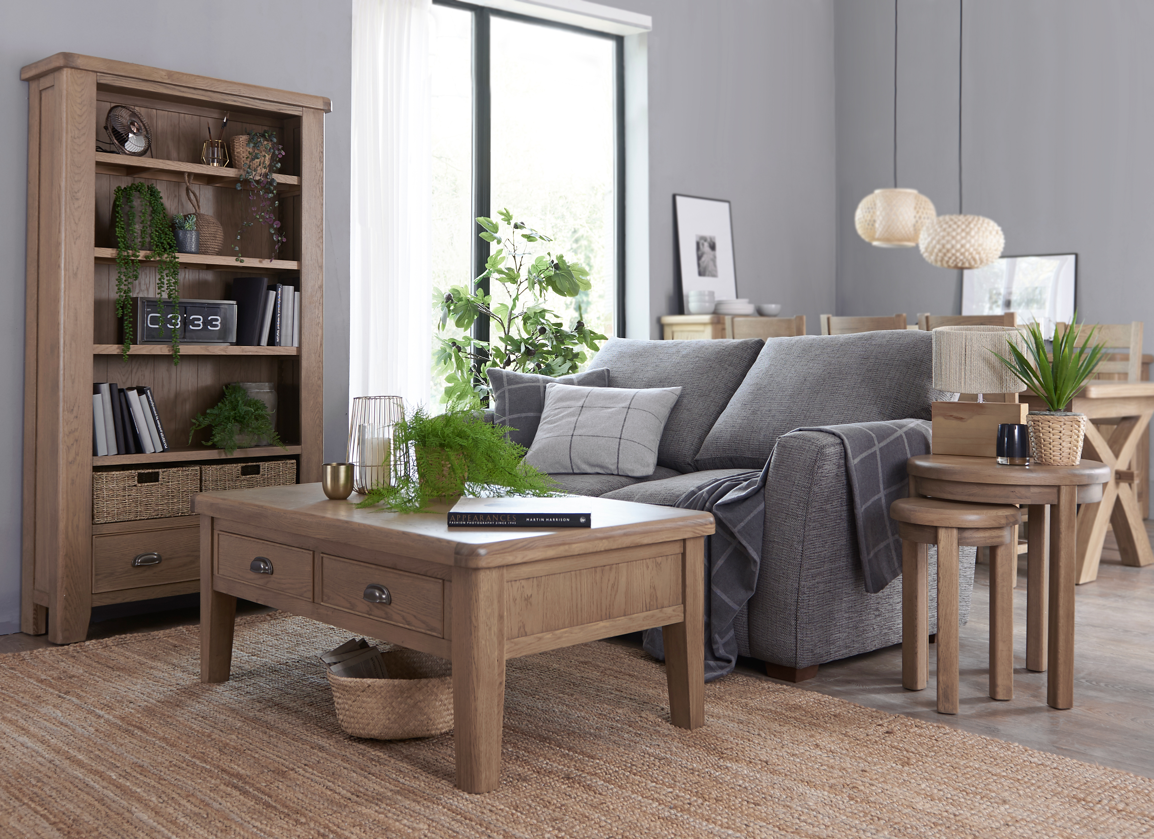 Light Wood Living and Dining furniture